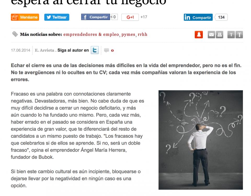 Artículo sobre el fracaso empresarial