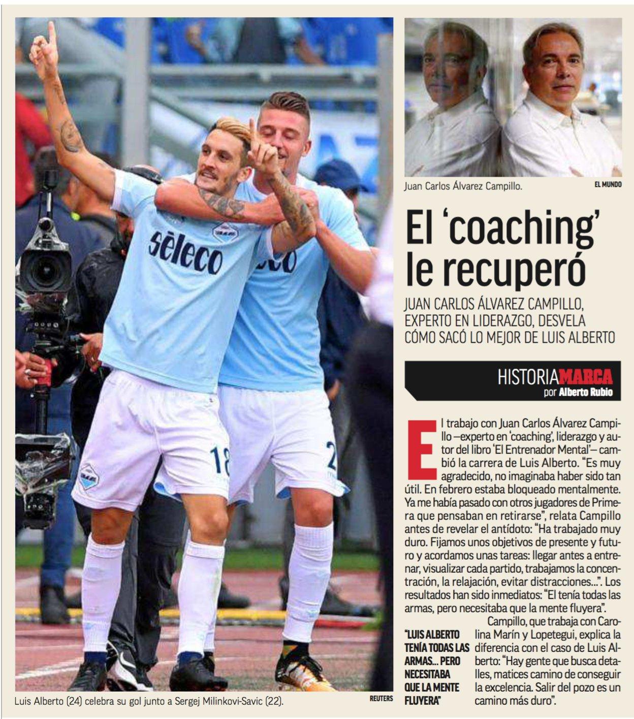 Luis Alberto - Lazio - Entrevista en diario Marca