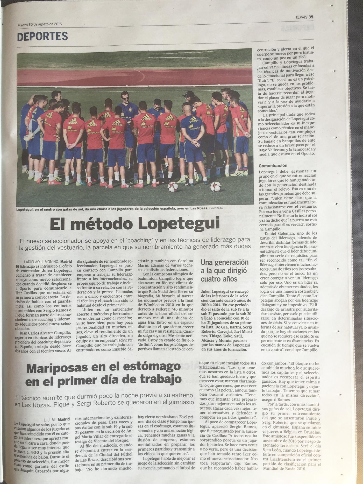 El método Lopetegui - Coach Seleccionador