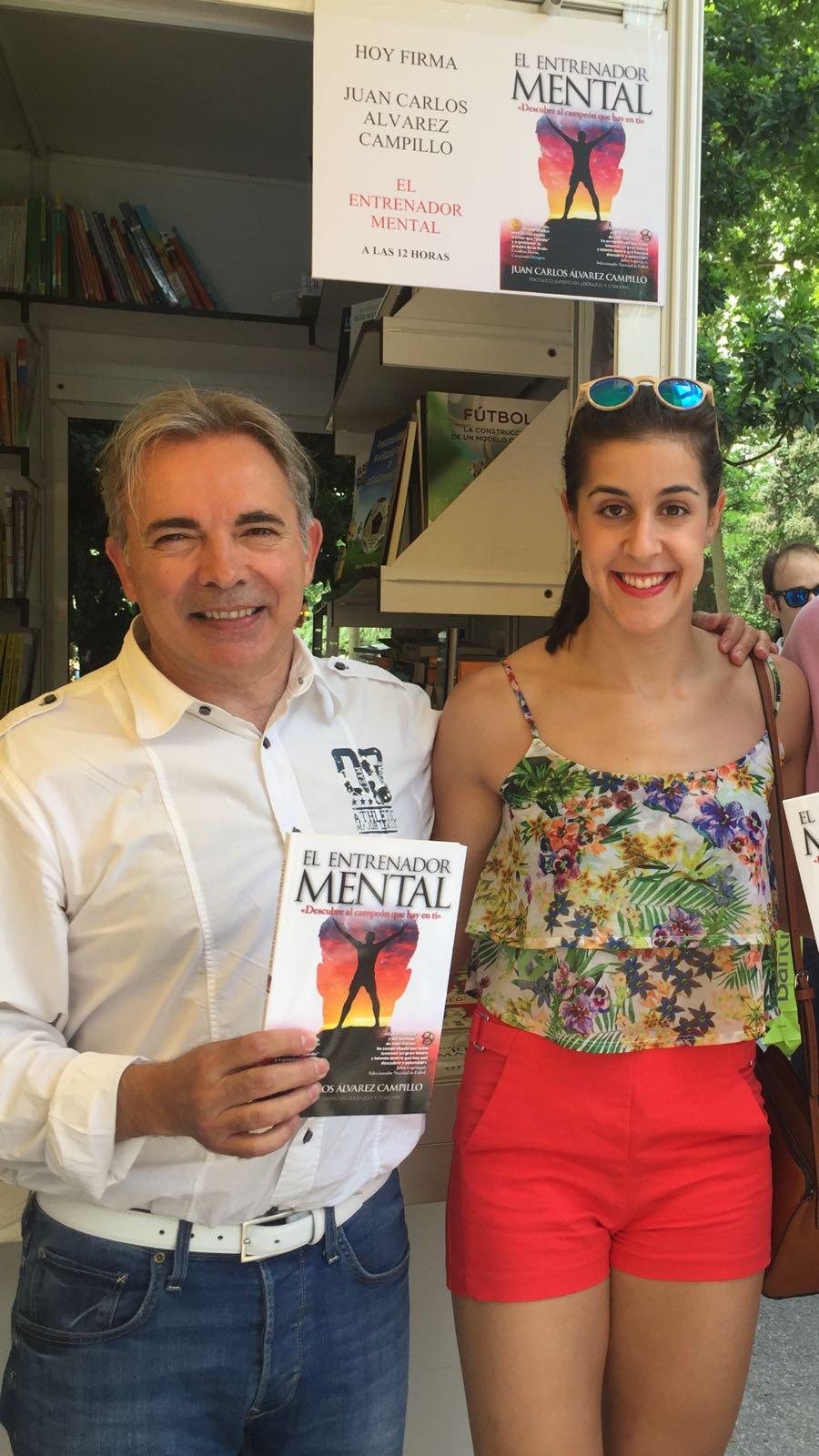 Juan Carlos Campillo y Carolina Marín, Feria del Libro Madrid