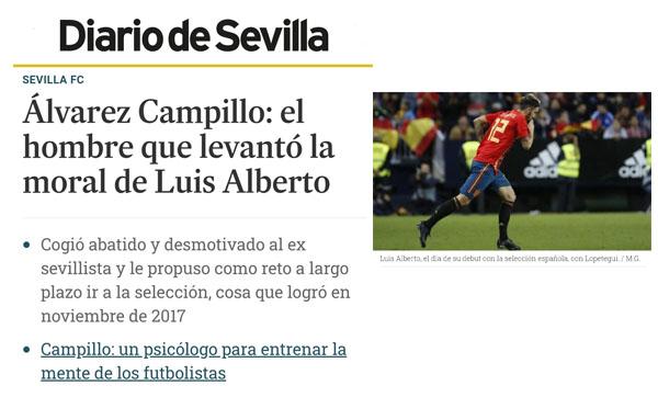 Alvarez Campillo y su trabajo con Luis Alberto Diario de Sevilla