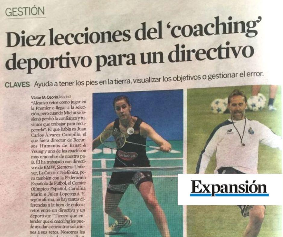 Coaching deportivo y ejecutivo - Juan Carlos Campillo en Expansion